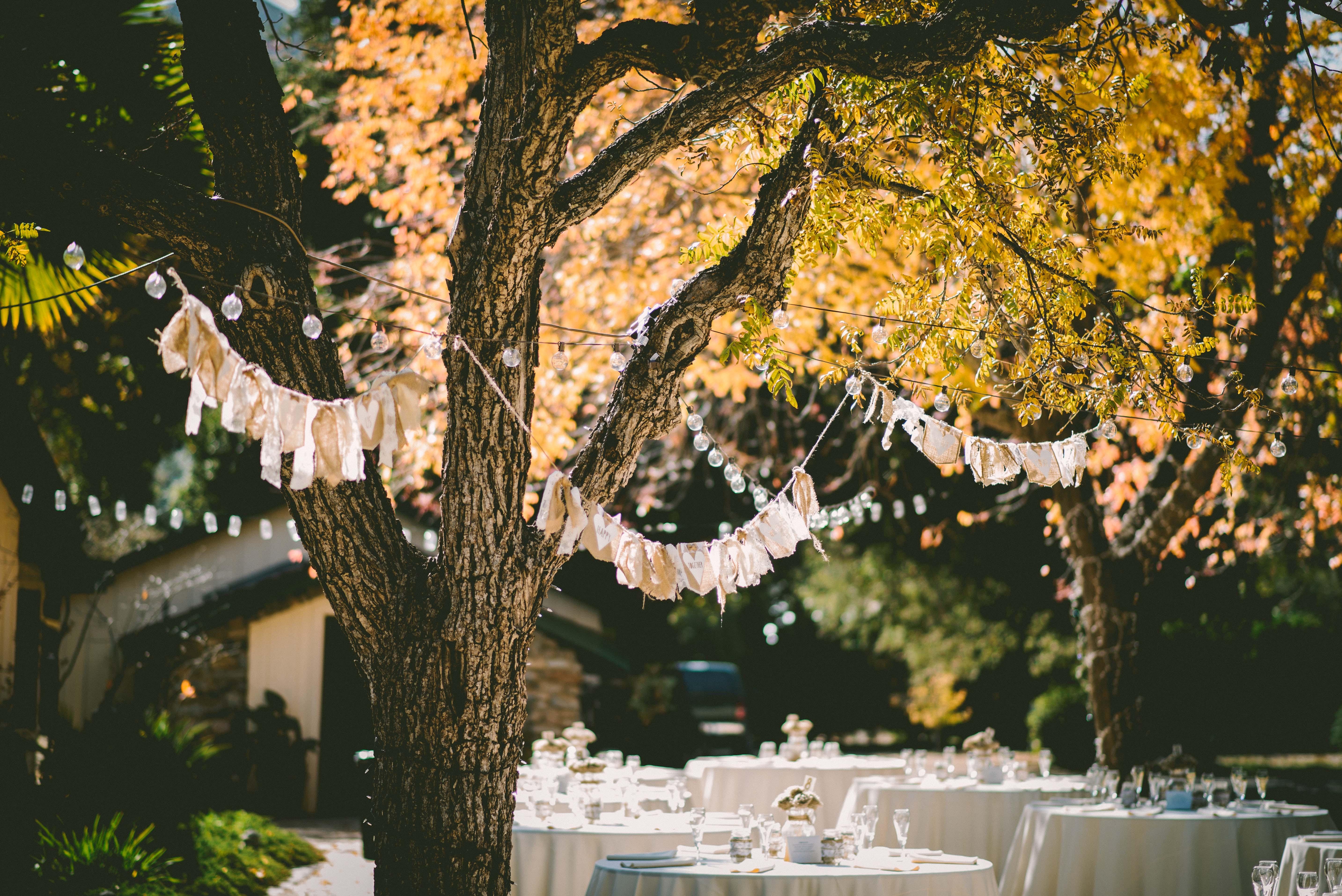 Есенна декорация за сватба