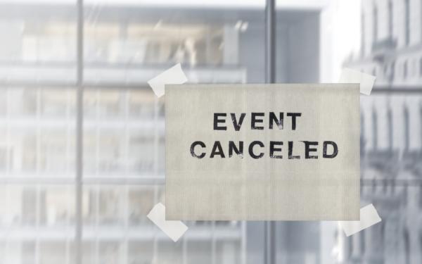 отмяна на събитие